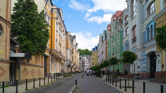 Пустые улицы Киева
