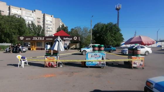 Место преступления в Уральске