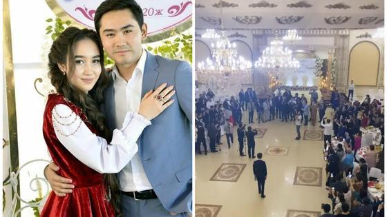 Куандык Рахым с женой и свадьба