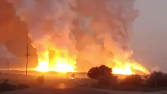 Пожар и столбы дыма на территории воинской части в Жамбылской области