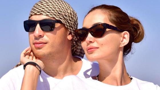 Сая Оразгалиева с мужем