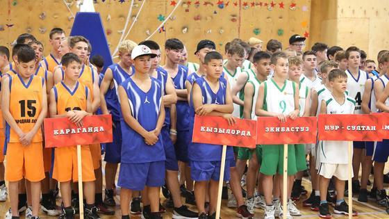 Мальчики-баскетболисты