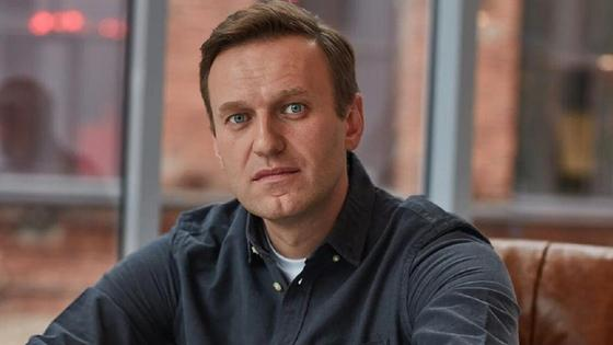 Алексей Навальный сидит в кресле