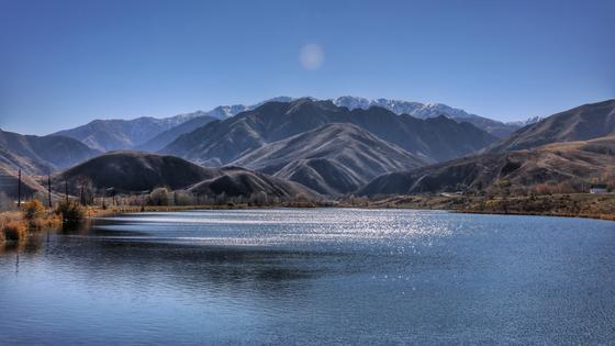 Озеро располагается в селе Бибакан