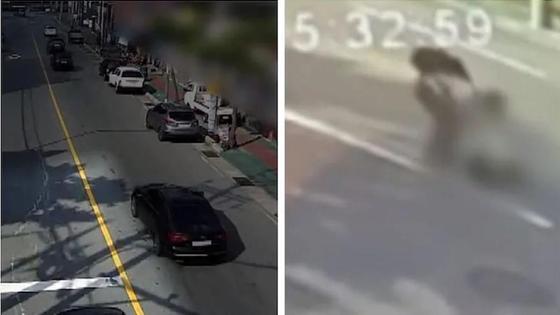 Кадры из видео с места ДТП