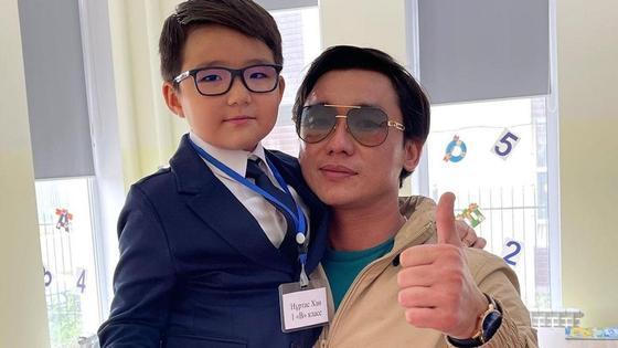Кайрат Нуртас с сыном