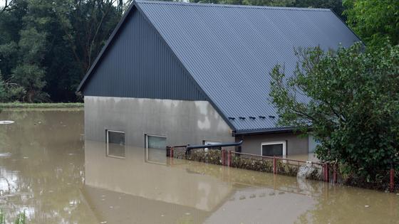 Дом затопило водой