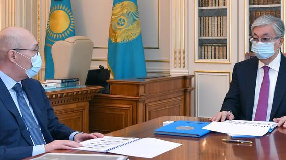 Касым-Жомарт Токаев и Кайрат Келимбетов