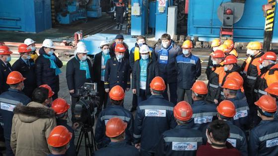 Предвыборный штаб посетил предприятия Жамбылской области