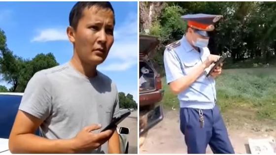 Разговор с полицейским в Алматинской области