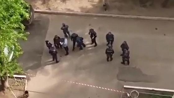 Место преступления в Павлодаре
