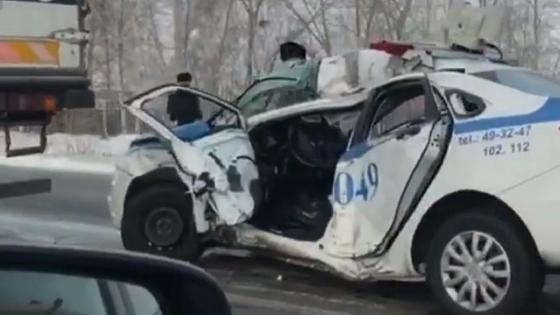 Служебная машина полиции пострадала в ДТП