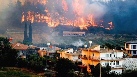Лес горит в Анталье