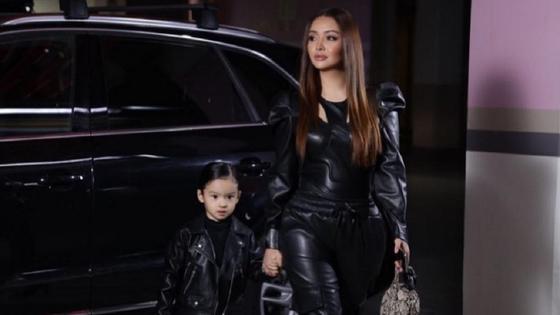 Аша Матай с дочерью. Фото