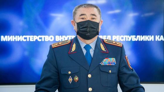 Глава МВД Ерлан Тургумбаев