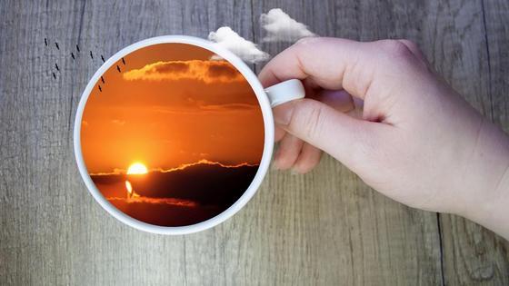 закат в чашке
