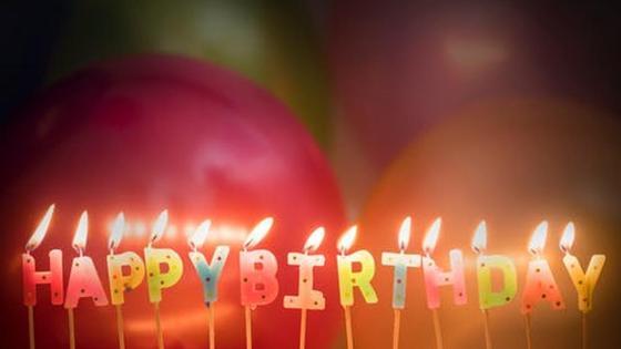 горящие свечи ко дню рождения