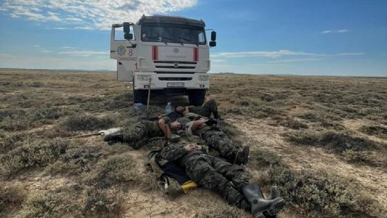 Пожарные спят в Карагандинской области