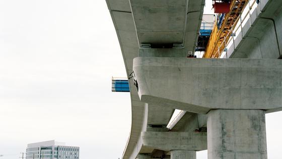 Вид на линию LRT