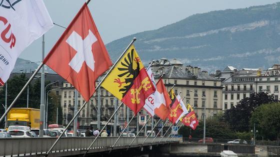 Флаги в Женеве