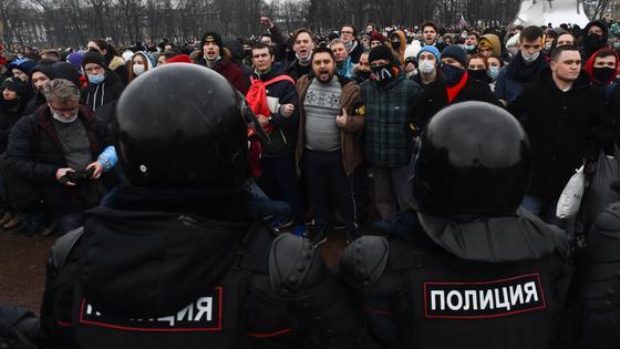 Протесты в поддержку Навального в Москве