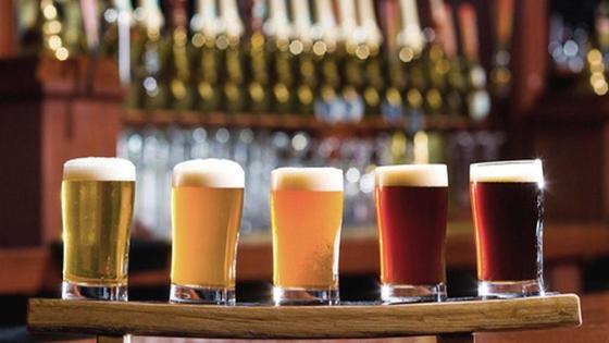 разные сорта пива в бокалах