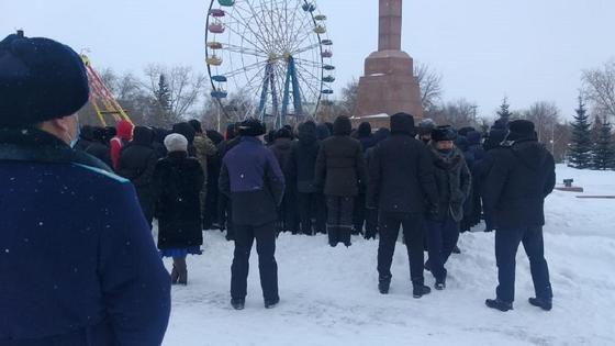 Несанкционированный митинг в Кокшетау