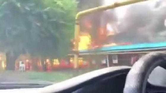 здание горит в Алматы