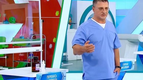 Доктор Александр Мясников в студии программы
