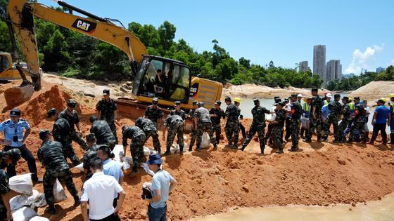 Спасательные операции в провинции Гуандун
