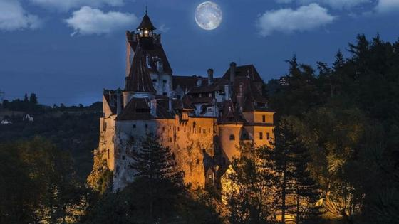 Замок Бран, панорама
