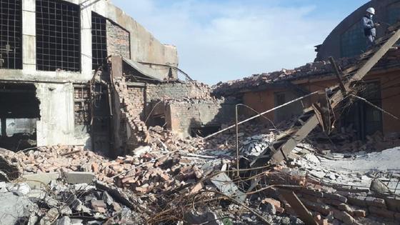 Здание обрушилось в Балхаше