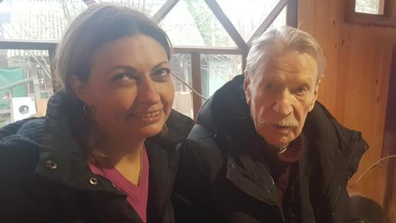 Российский актер Иван Краско и его возлюбленная Наталья Смыкова