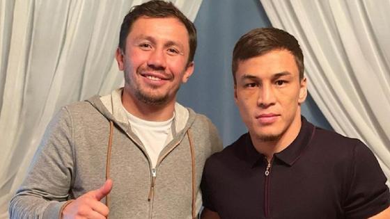 Боксеры Геннадий Головкин и Батыр Джукембаев