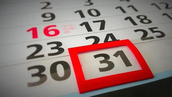 31 число на календаре