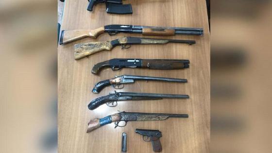 Оружие, изъятое у казахстанца