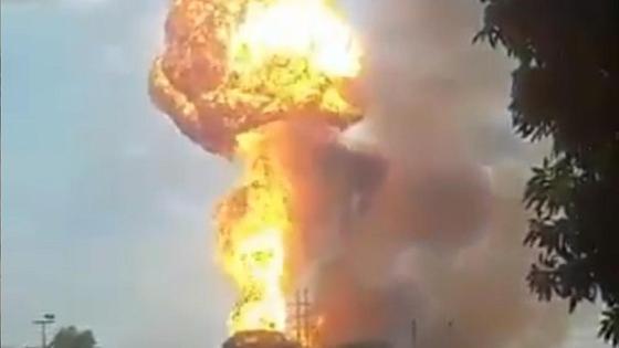 Взрыв на заводе в Венесуэле
