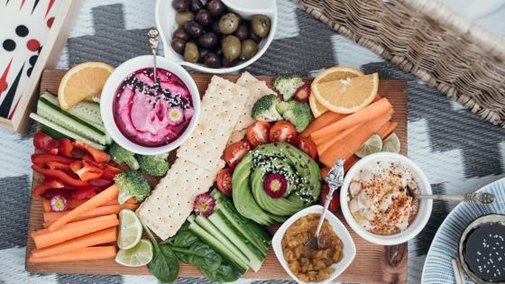 Еда, пикник, овощи, фрукты