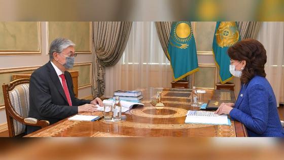 Касым-Жомарт Токаев и Аида Балаева