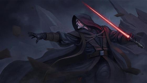"""темный персонаж из """"Звездный войн"""""""