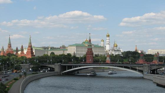 Московский Кремль, вид с реки Москва