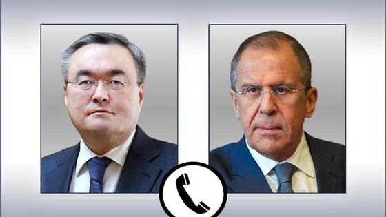 Мұхтар Тілеуберді мен Сергей Лавров
