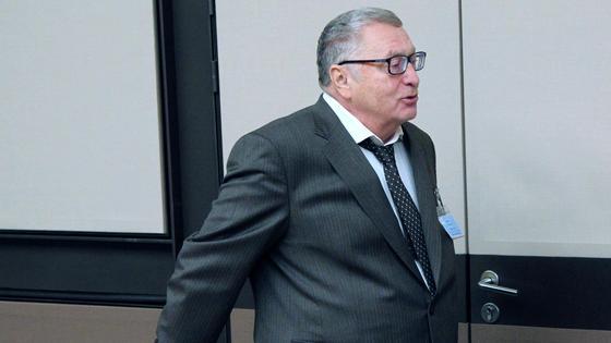 Владимир Жириновский в сером костюме