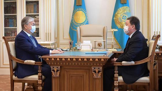 Касым-Жомарт Токаев и Аскар Мамин