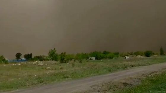 Пыльная буря в Акмолинской области
