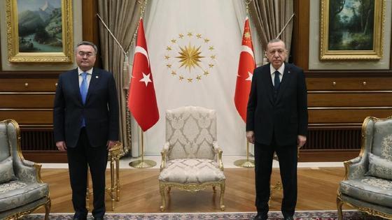 Мухтар Тлеуберди и Реджеп Тайип Эрдоган