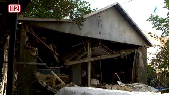 Пострадавший в результате хлопка газа дом