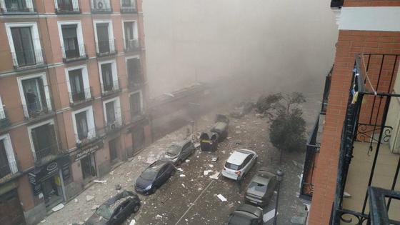 Последствия взрыва в Мадриде