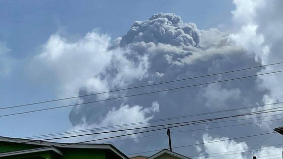 Пепел вулкана Ла Суфриер