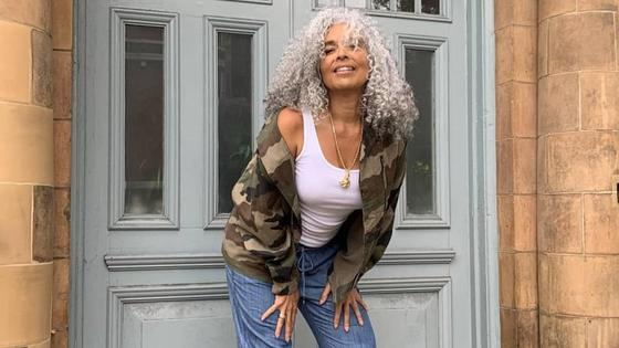 55-летняя модель из Лондона Мия Мауги